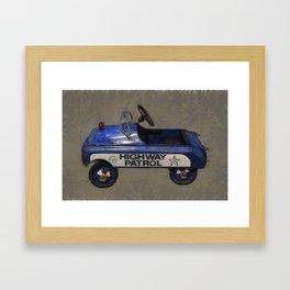 Highway Patrol Pedal Car Framed Art Print