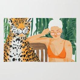 Jungle Vacay #painting #illustration Rug