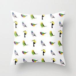 geometric bird print Throw Pillow