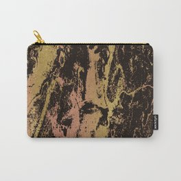 Rose gold & gold marbled Carry-All Pouch