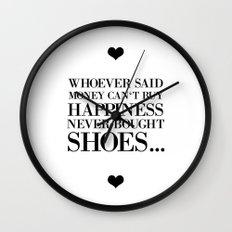 Happiness white Wall Clock
