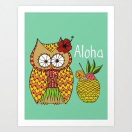 Miss Lu-Owl Art Print