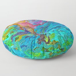 355 - Abstract garden design Floor Pillow
