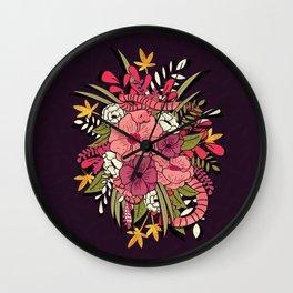 Jungle Bouquet 001 Wall Clock