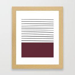 MARINERAS MAROON Framed Art Print