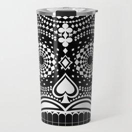 Black Skull  White Suits Travel Mug