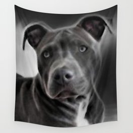 Pit Bull lover, a portrait of a beautiful Blue Nose Pit Bull Wall Tapestry