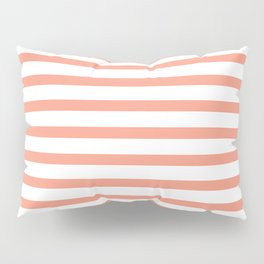 Seamless coral striped pattern on white Pillow Sham