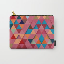 Colorfull abstract darker triangle pattern Carry-All Pouch