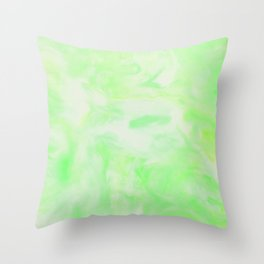 Neon Green Marble Throw Pillow