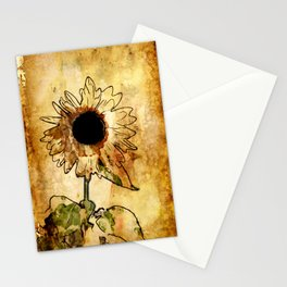 Sunflower Art Stationery Cards