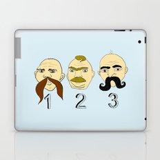 The Three Mustaches Laptop & iPad Skin