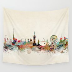 london england skyline Wall Tapestry