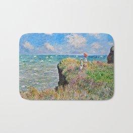 Claude Monet Cliff Walk At Pourville 1882 Bath Mat