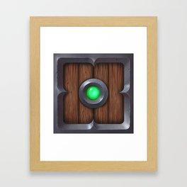 Hand painted Wooden pillow box Framed Art Print
