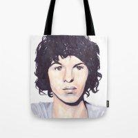 luke hemmings Tote Bags featuring Luke by Daniela Herodesová