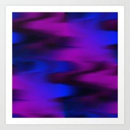 Keep It Wavy (Blue, Black, Purple) Art Print