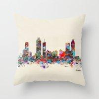 atlanta Throw Pillows featuring Atlanta Georgia  by bri.buckley