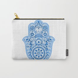 Blue Watercolor Hamsa Hand Carry-All Pouch