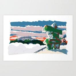 Inukshuk, 7th Heaven Art Print