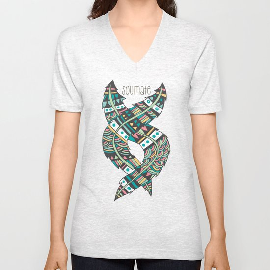 Soulmate Feathers Unisex V-Neck