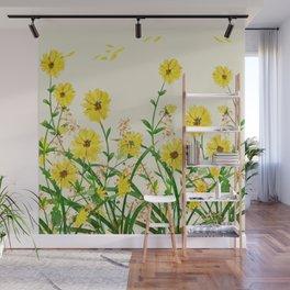 Yellow Wildflowers Wall Mural