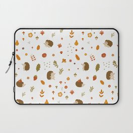 children hedgehog pattern, forest design Laptop Sleeve