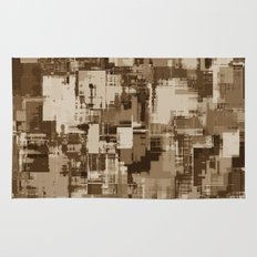 Abstract Brown Camo pattern Rug