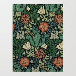William Morris Compton Floral Art Nouveau Pattern Poster