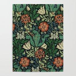 William Morris Compton Floral Art Nouveau Pattern Poster
