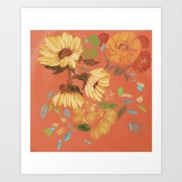 Springtime Orange Art Print