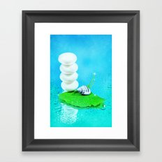 WELLNESS GINKGO Framed Art Print