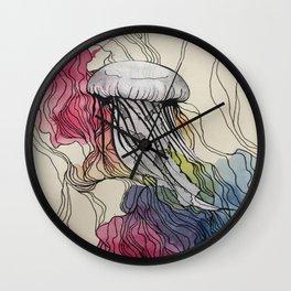 Watercolour Jellyfish Wall Clock