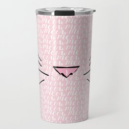 Crazy Cat Lady (Meow Meow Meow Pattern) Travel Mug