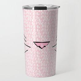 Crazy Cat Lady (Meow Meow Meow Pattern) Travel Mug