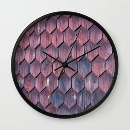 Weathered wood paneling Wall Clock