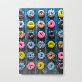 Vegan Donut Party Metal Print