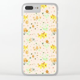 Whimsical Honeybees | Hives Honeycomb Clover Flowers Clear iPhone Case