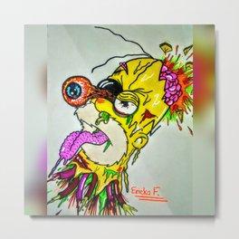 Head Blown Homer Metal Print