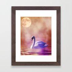 Fantasy Swan Framed Art Print