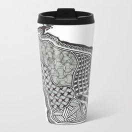 Geometric Colony Metal Travel Mug