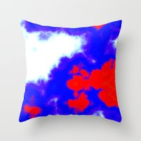 patriotic Throw Pillows featuring Patriotic Sky by Christy Leigh