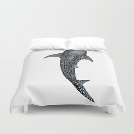 Whale shark Rhincodon typus for divers, shark lovers and fishermen Duvet Cover