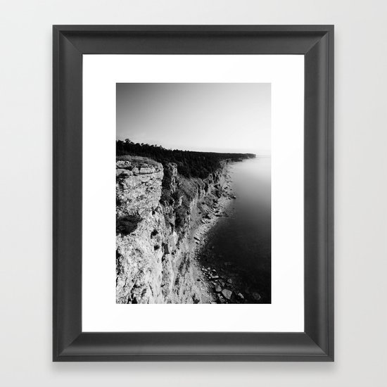 Where sea meets land Framed Art Print