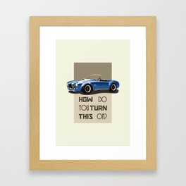 The Classic Game Cheat Code: How do you turn this on Funny Blue Cobra Car Framed Art Print
