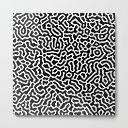 Coral - Black and White Metal Print