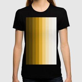 shades of earth brown stripe art T-shirt