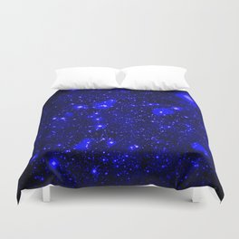 Dark Matter Galaxy Blue Duvet Cover