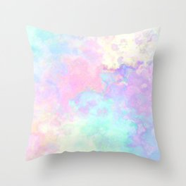 Runny colors Throw Pillow