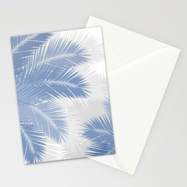 BLUE TROPICAL PALM TREES Stationery Cards